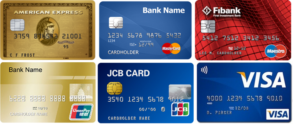 Image of card payments networks brands